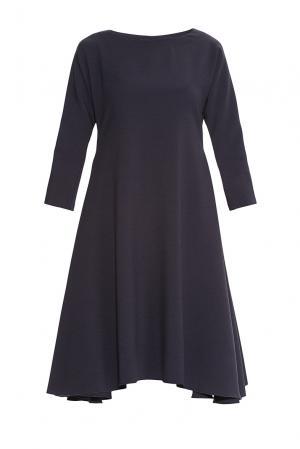 Платье из искусственного шелка и вискозы 182755 Cyrille Gassiline. Цвет: синий