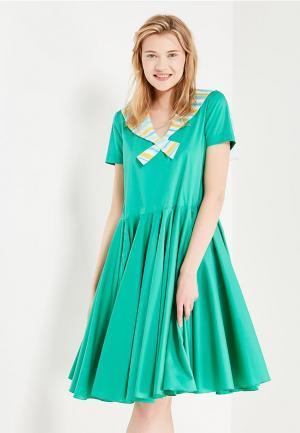 Платье Laroom. Цвет: бирюзовый
