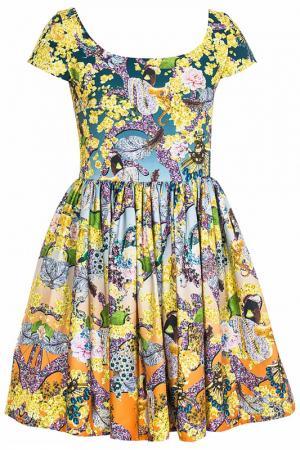 Платье Mary Katrantzou. Цвет: желтый