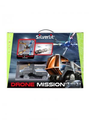 Миссия Дронов (грузовик+квадрокоптер) Silverlit. Цвет: черный, коричневый, синий