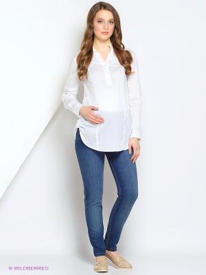 Блузка Gebbe. Цвет: белый