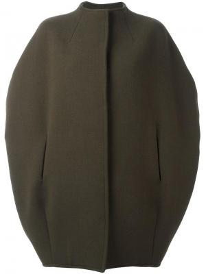 Пальто без воротника с короткими рукавами Gianluca Capannolo. Цвет: зелёный