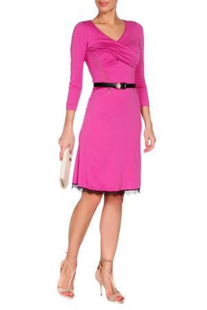 Платье VDP. Цвет: малиновый