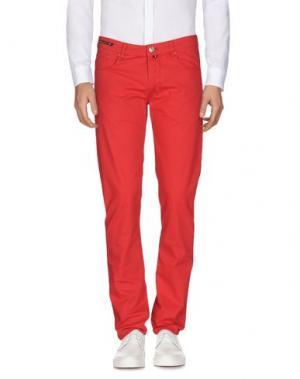 Повседневные брюки PT05. Цвет: красный