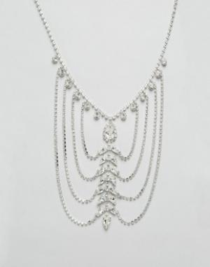 Krystal Драпированное ожерелье с кристаллами Swarovski от. Цвет: золотой