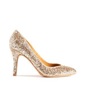 Туфли-лодочки блестящие BOBBIES. Цвет: золотистый