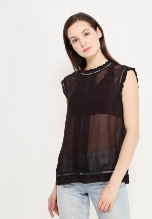Блуза Sisley. Цвет: черный