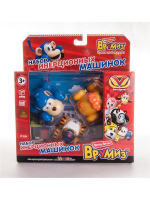 Игрушка Врумиз набор инерционных машинок Банги, Лайонел, Мак Тигр. Цвет: красный