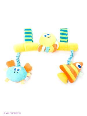 Погремушка Океан Amico. Цвет: желтый, зеленый, салатовый, голубой, оранжевый