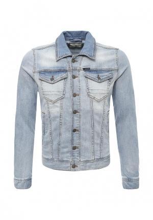 Куртка джинсовая Guess Jeans. Цвет: голубой