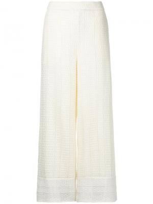 Расклешенные брюки Goen.J. Цвет: белый