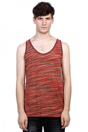 Майка  Gerlach Tank Top Red Multi Stripe Fallen. Цвет: красный,бежевый