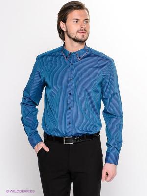 Рубашка Hans Grubber. Цвет: индиго