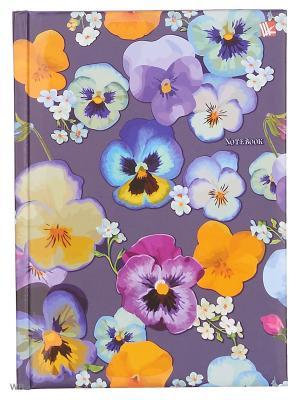 Книга для записей с поролоном 80 листов.Цветы Виолы Канц-Эксмо. Цвет: фиолетовый, розовый, светло-желтый