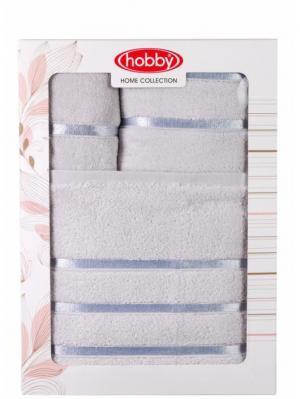 Махровое полотенце в коробке 30x50+50x90+70x140 DOLCE св.голубое,100% хлопок HOBBY HOME COLLECTION. Цвет: светло-голубой