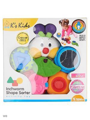 Игрушка-сортер Гусеничка K'S Kids. Цвет: красный, оранжевый, зеленый
