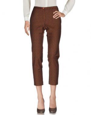 Повседневные брюки MYF. Цвет: коричневый