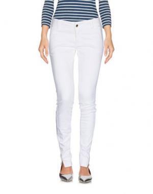 Джинсовые брюки MET & FRIENDS. Цвет: белый