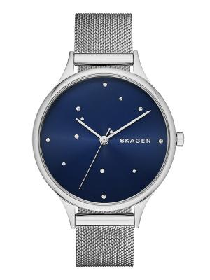 Часы SKAGEN. Цвет: серебристый, темно-синий