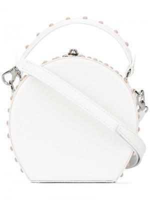 Круглая сумка через плечо Bertoni 1949. Цвет: белый