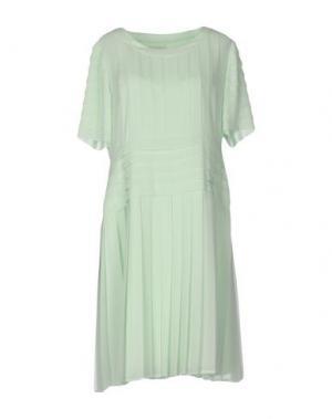 Платье до колена EDWARD ACHOUR. Цвет: светло-зеленый
