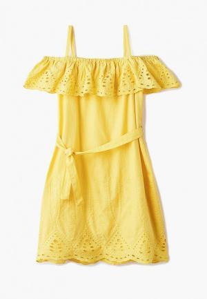Платье Outfit Kids. Цвет: желтый