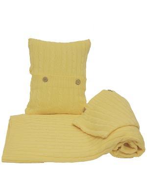 Комплект: плед с  двумя наволочками ARTILIVI. Цвет: желтый