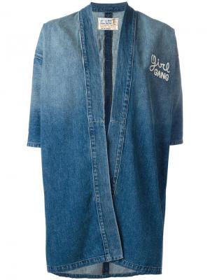 Джинсовая куртка Girl Gang Sandrine Rose. Цвет: синий