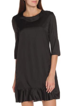 Полуприлегающее платье с рукавом 3/4 Marni. Цвет: черный
