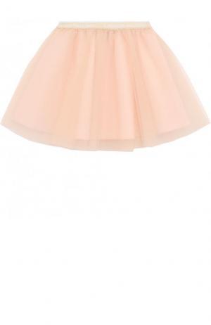 Многослойная юбка-миди с эластичным поясом I Pinco Pallino. Цвет: розовый