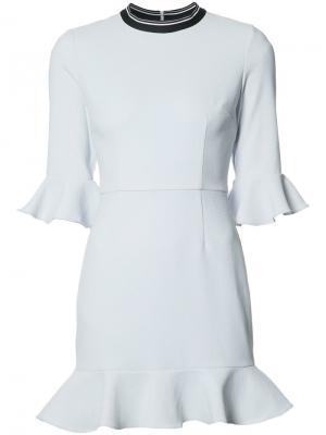 Платье мини Billie Flare Rebecca Vallance. Цвет: синий