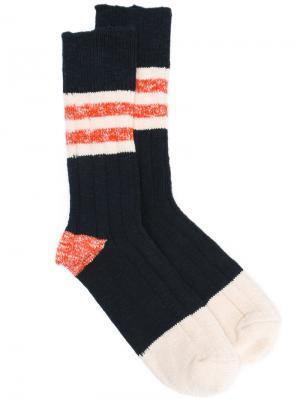 Stripe panel socks Bellerose. Цвет: синий