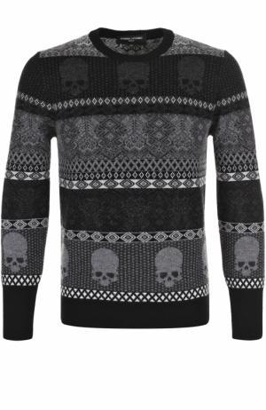 Шерстяной свитер с принтом Gemma. H. Цвет: черный