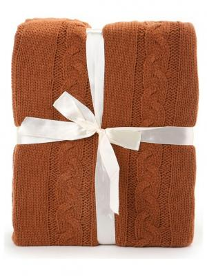 Плед 130*150 СМ Knit KnitT-Brown Cite Marilou. Цвет: коричневый