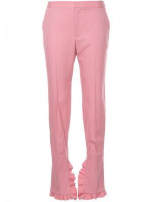 Брюки с оборками Irene. Цвет: розовый и фиолетовый