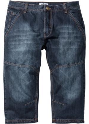 Джинсовые шорты Regular Fit длиной 3/4, cредний рост (N) (темно-синий) bonprix. Цвет: темно-синий