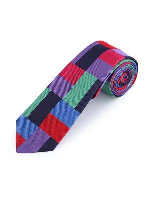 Галстук Polaris Bures Duchamp. Цвет: черный, красный, светло-зеленый, синий, фиолетовый