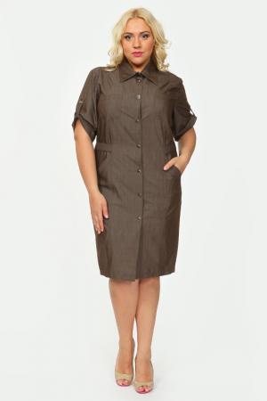Платье Shalle. Цвет: коричневый