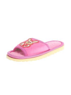 Тапочки домашние детские Migura. Цвет: розовый, желтый, бежевый, красный