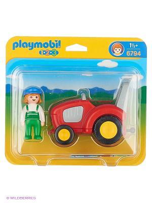 Трактор Playmobil. Цвет: красный