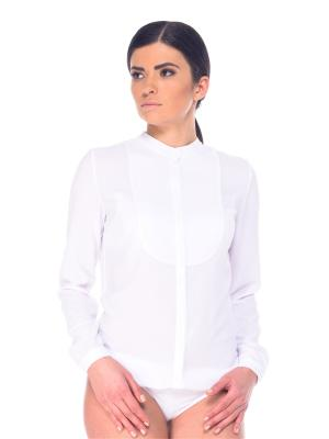 Блузка- боди Arefeva. Цвет: белый
