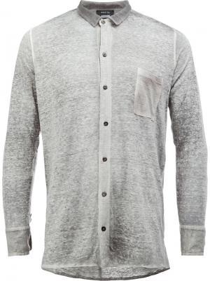 Рубашка с нагрудным карманом Avant Toi. Цвет: серый