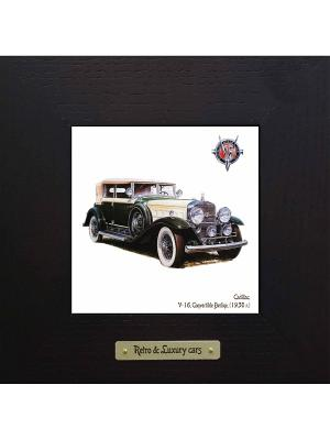 Картина-сувенир Cadillac, V-16 Convertible Berline (1930 г.) Ceramic Picture. Цвет: бежевый