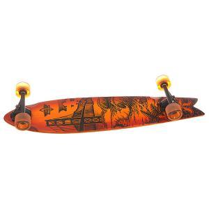 Лонгборд  Golden Longboard Sunburst Bamboo 8.625 x 38.5 (97.8 см) Dusters. Цвет: оранжевый,черный