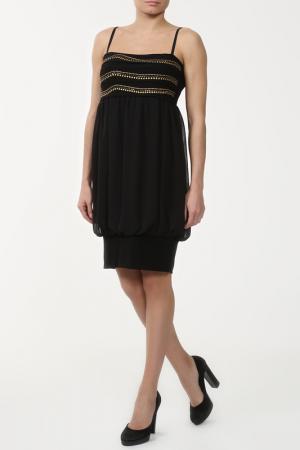 Платье Sabra. Цвет: черный, золотой
