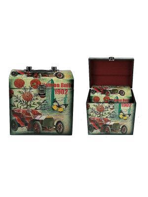 Набор сундучков из 2-х шт. Русские подарки. Цвет: светло-зеленый
