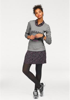Платье 2 в 1 Kangaroos. Цвет: серый меланжевый/темно-синий/ярко-розовый