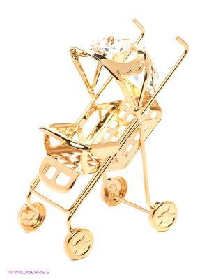Фигурка Детская коляска Юнион. Цвет: золотистый