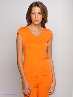 Футболка LingaDore. Цвет: оранжевый