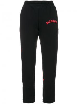 Укороченные трикотажные брюки Nicopanda. Цвет: чёрный